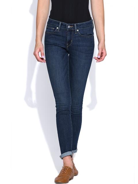 Levis Blue Washed Skinny Jeans 711