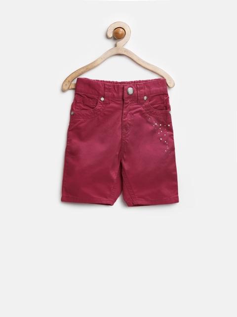 Gini and Jony Girls Maroon Trousers