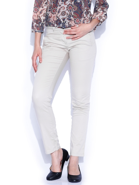 Arrow New York Women Beige Trousers