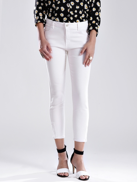 GUESS Off-White Slim Fit Stretchable Jeans
