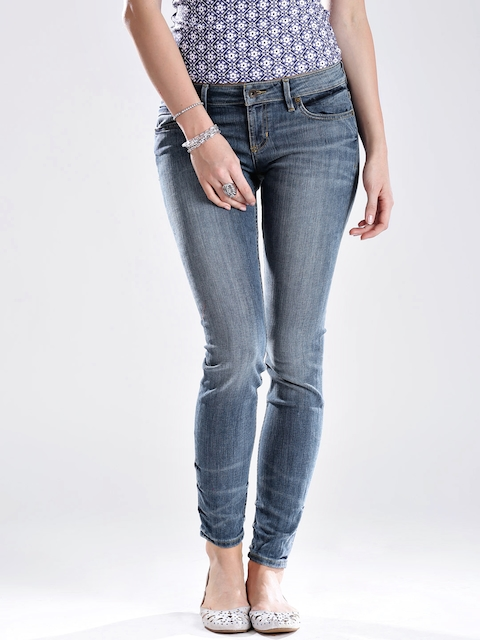 GUESS Blue Skinny Fit Stretchable Jeans