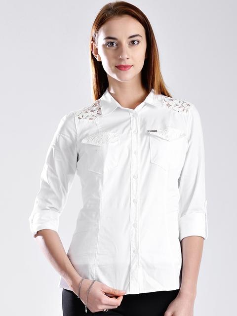 GUESS White Casual Shirt