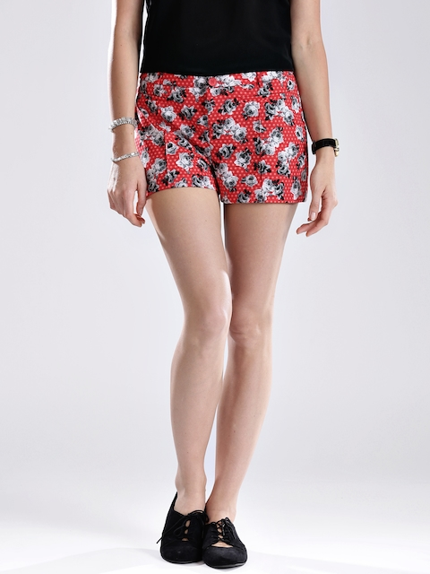 GUESS Red Floral Print Shorts