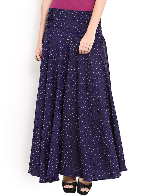 Trend Arrest Navy & Pink Star Print Palazzo Trousers