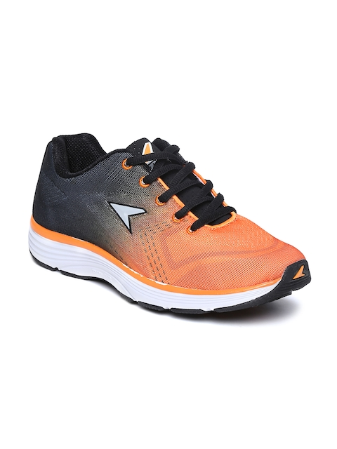 Power by Bata Men Orange & Charcoal Grey Cosmo INA115 Running Shoes
