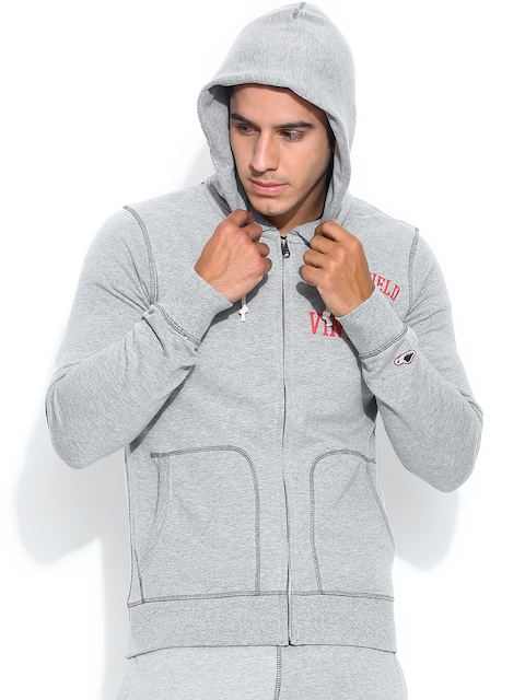 Jack & Jones Grey Melange Hooded Sweatshirt