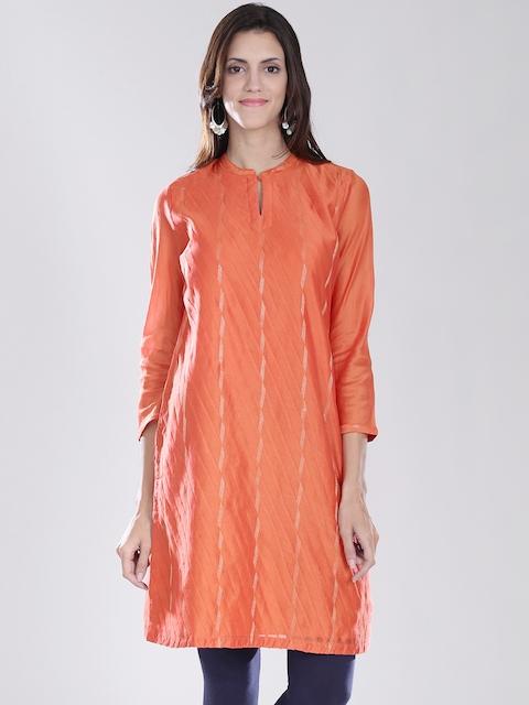 Fabindia Orange Kurta