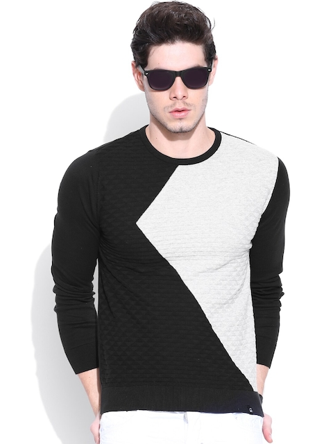 United Colors of Benetton Black & Grey Sweater