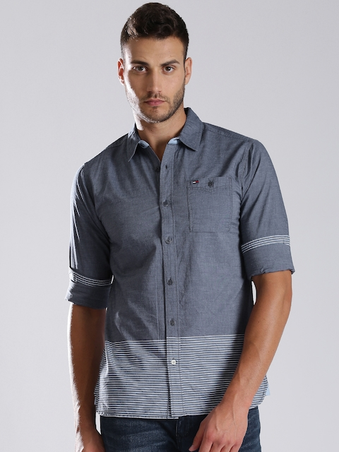Tommy Hilfiger Blue Chambray Casual Shirt