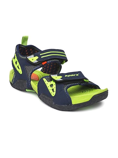 Sparx Men Navy & Green Sports Sandals