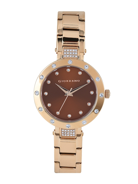 GIORDANO Women Brown Dial Watch 2727-55