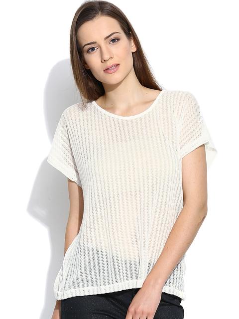 Vero Moda Off-White Sheer Top