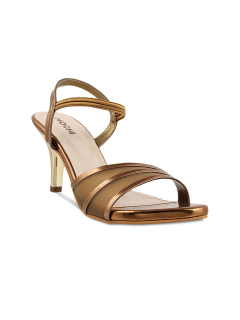 Mochi Women Bronze-Toned Heels