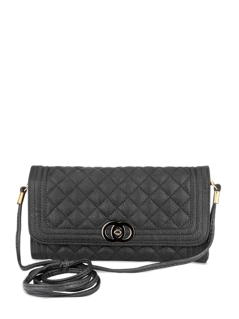 Swiss Design Women Black Clutch  available at myntra for Rs.524