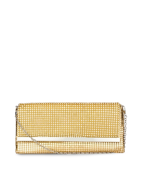 Swiss Design Gold-Toned Embellished Clutch  available at myntra for Rs.734