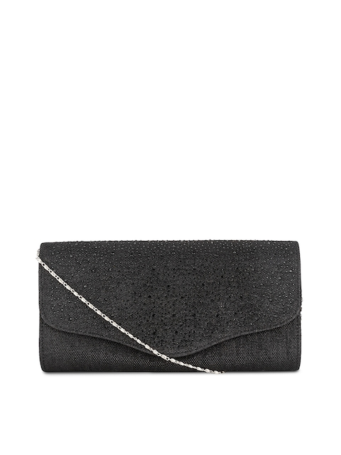 Swiss Design Black Embellished Clutch  available at myntra for Rs.699