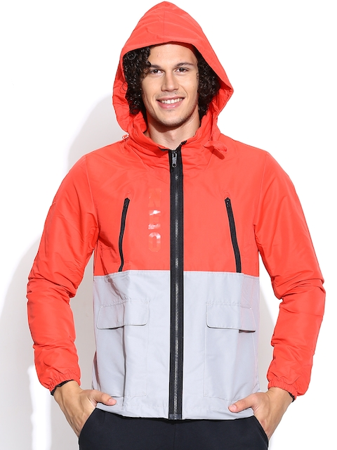 Adidas NEO Red & Grey M PCKTS WB Hooded Jacket