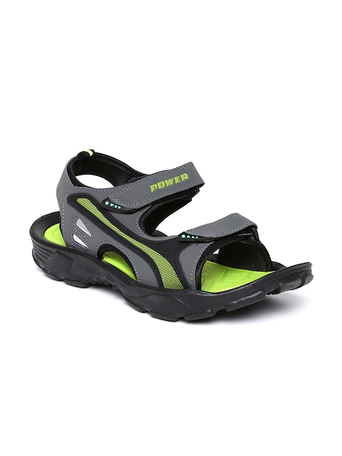 Power by Bata Men Dark Grey Sports Sandals  available at myntra for Rs.399