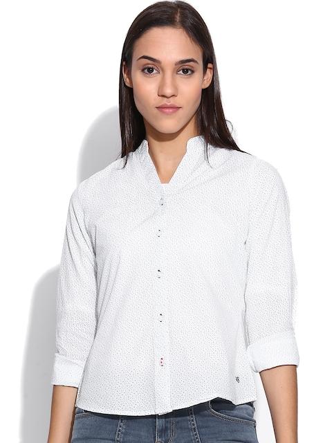American Swan White Printed Shirt