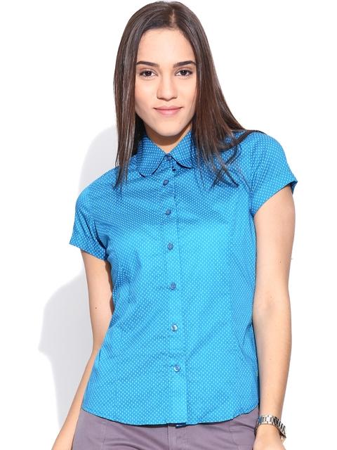 American Swan Blue Printed Shirt