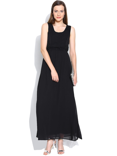 Vero Moda Black Beaded Maxi Dress