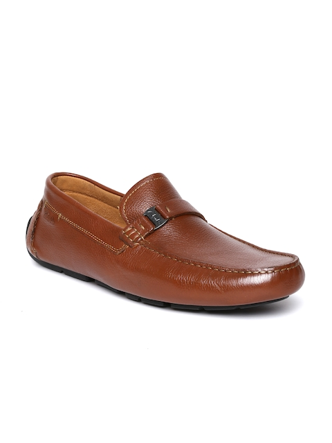 Clarks Men Brown Leather Loafers