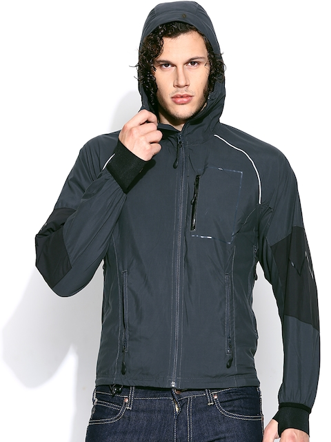 Wrangler Grey Hooded Jacket  available at myntra for Rs.2198