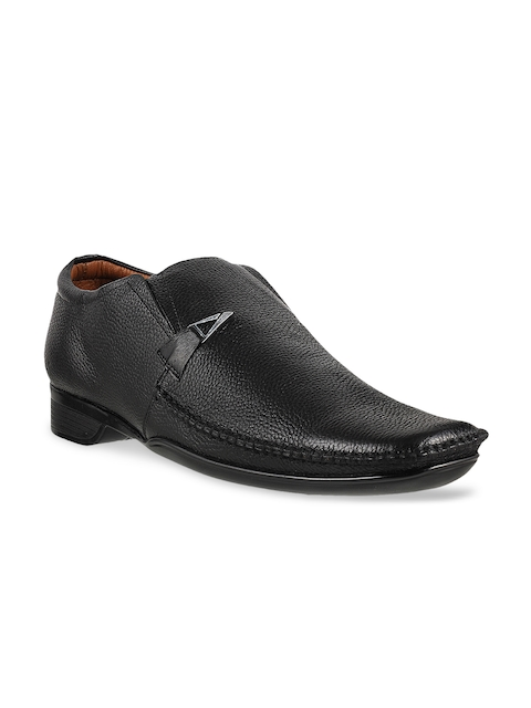 Metro Men Black Leather Formal Shoes