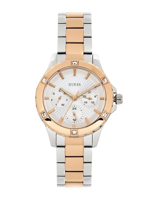 GUESS Women Silver-Toned Dial Watch W0443L4