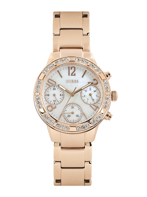 GUESS Women Pearly White Dial Watch W0546L3