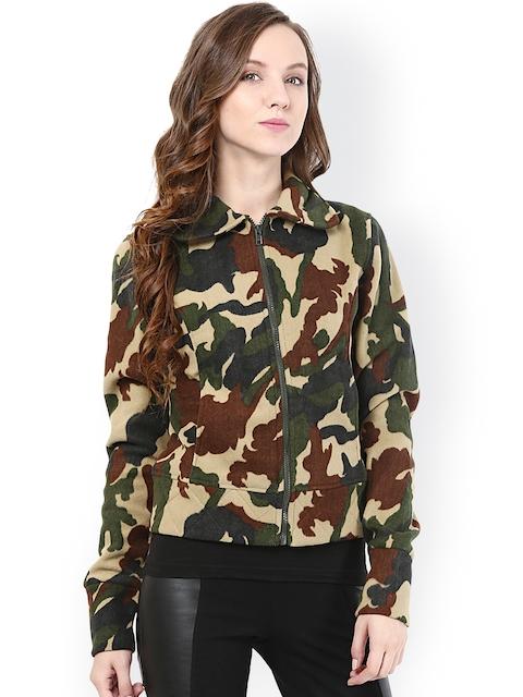 The Vanca Green Printed Woollen Jacket