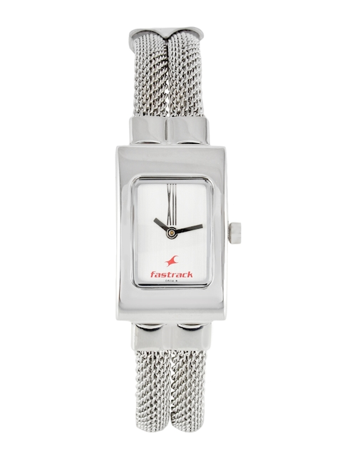 Fastrack Women White Dial Watch NA2049SM09