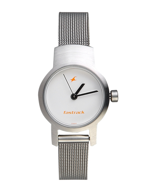 Fastrack Women White Dial Watch 2298SM02