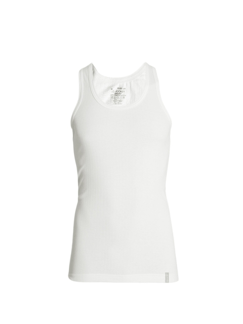 Jockey Men White Innerwear Vest