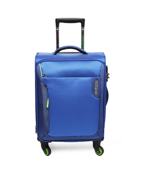 American Tourister Unisex Blue Trolley Suitcase