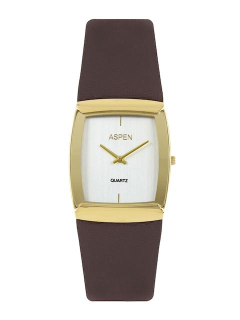 ASPEN Men Silver-Toned Dial Watch AM0063