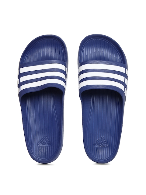 Adidas Unisex Blue & White Duramo Slide Flip Flops