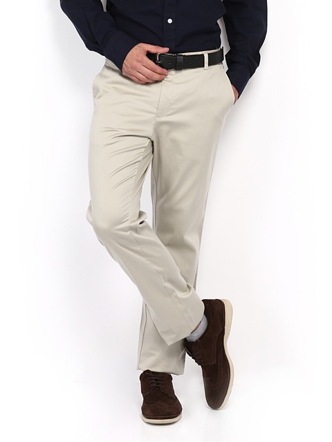 Allen Solly Beige Custom Slim Chino Trousers