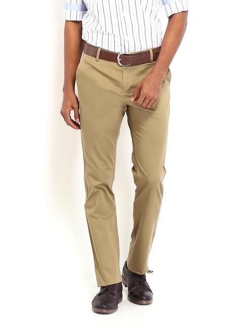 Allen Solly Khaki Custom Slim Trousers
