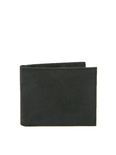 Allen Solly Men Dark Grey Leather Wallet