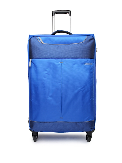 AMERICAN TOURISTER Unisex Blue Spinner Large Trolley Suitcase