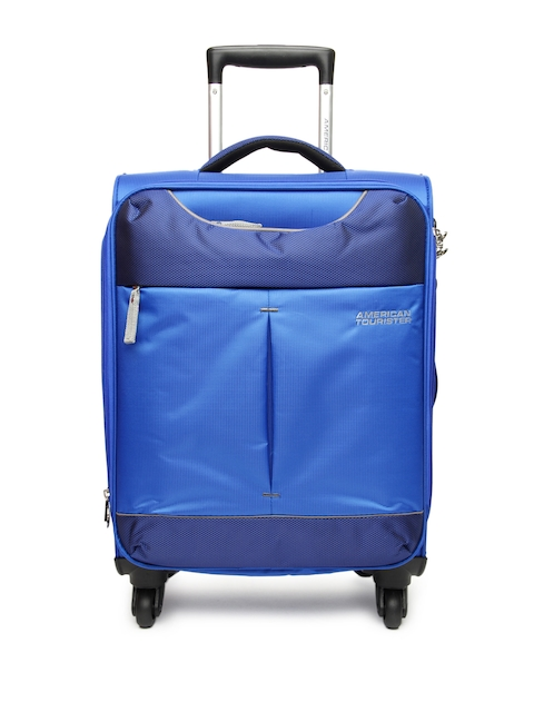 American Tourister Unisex Blue Spinner Small Trolley Suitcase