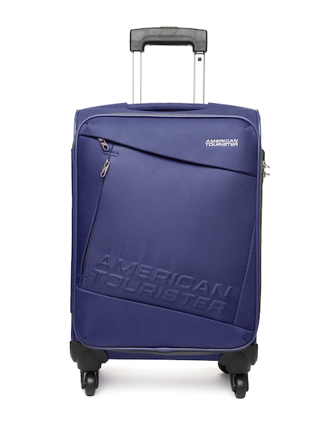American Tourister Unisex Blue Small Trolley Suitcase