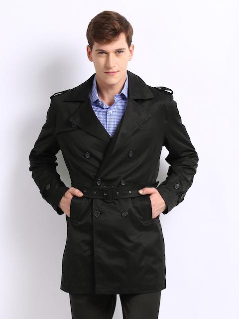 Arrow New York Men Black Slim Fit Jacket
