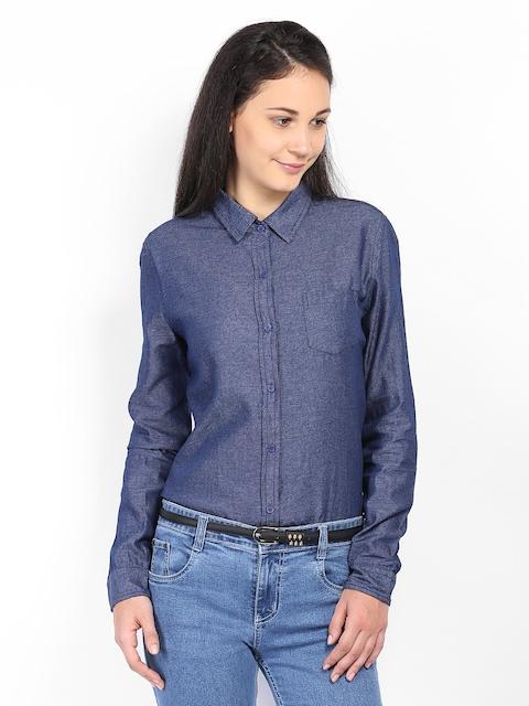 Arrow Woman Blue Formal Shirt