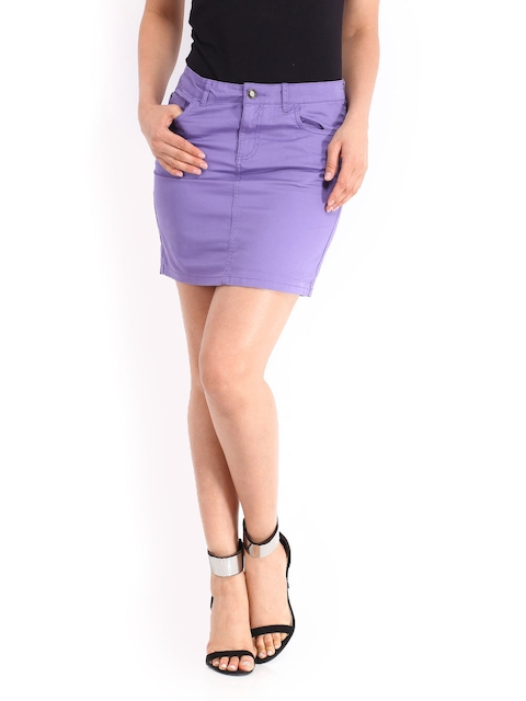Being Human Clothing Lavender-Coloured Mini Skirt