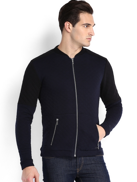 Being Human Clothing Navy Padded Jacket