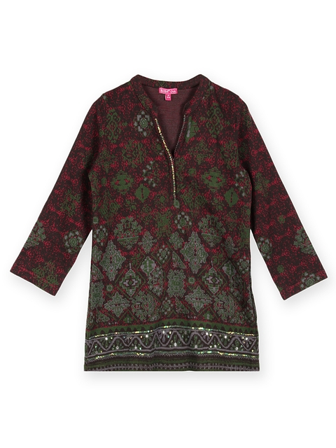 BIBA Girls Brown & Green Kurti  available at myntra for Rs.539