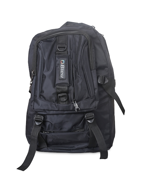 Bleu Unisex Black Backpack
