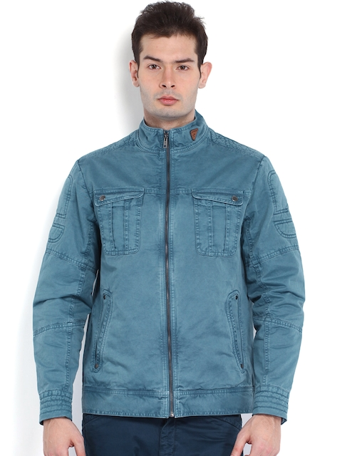 Breakbounce Men Blue Bear Hug Fit Jacket